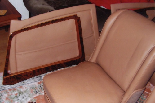 Wooden trim and door panels refurbished