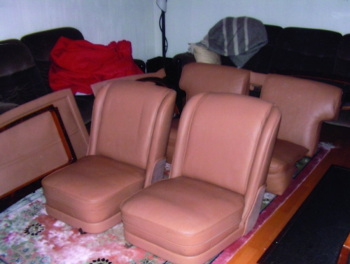 The seats and trim upholstered in best leather