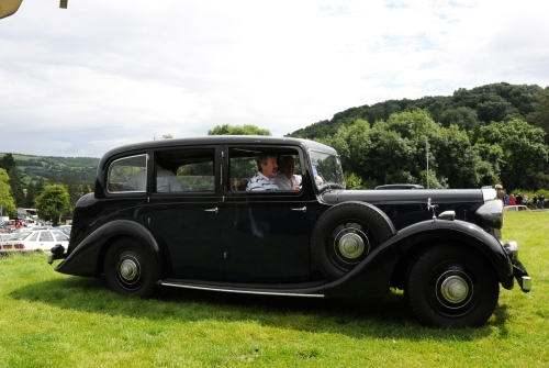 The limousine seen here at Shelsley Walsh Hill Climb.