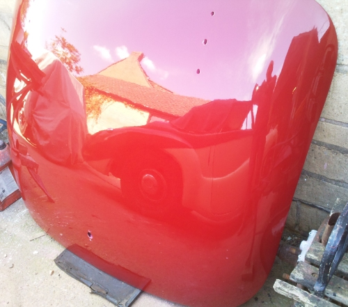 Bare metal repaint in original colours, bootlid awaiting fitting!