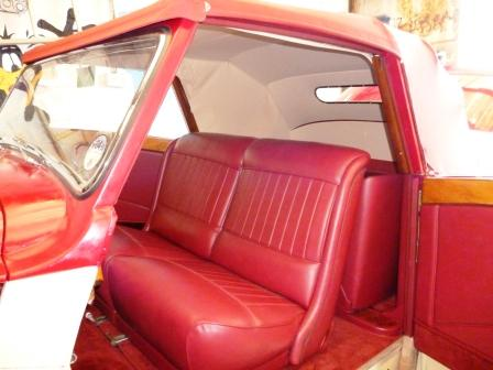 A full interior re-trim with fully lined mohair hood